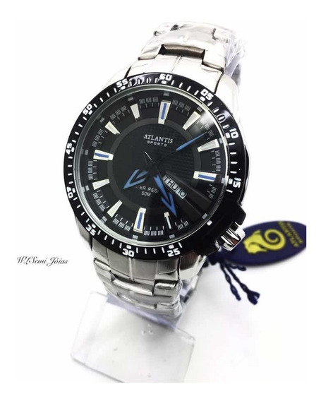 Relógio Atlantis Masculino G3166 Azul