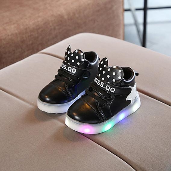 Muchachos De Las Niñas Zapatos Anti-deslizante De Led Se En