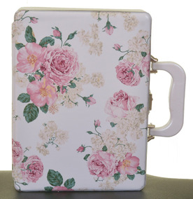 Estojo Álbum Do Bebê 15x21 Para 120 Fotos Floral Rosa