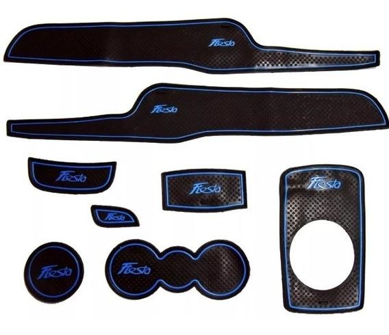 Jogo De Tapete Ford New Fiesta Console Porta Copo Portas