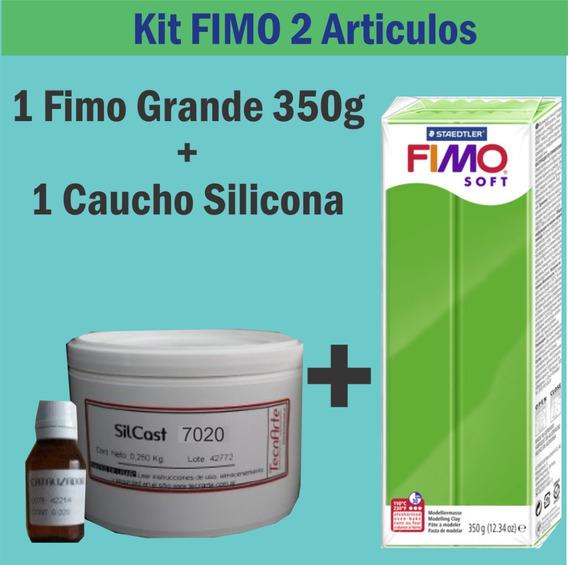 Kit Fimo 2 Articulos Caucho Silicona Fimo 350g Clay Arcilla