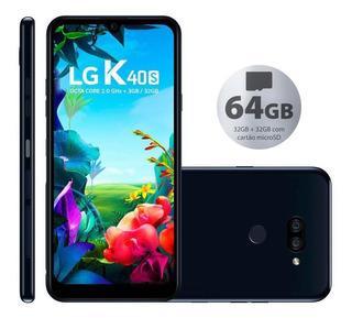 Smartphone LG K40s Tela 6.1 3gb/64gb (32gb+32gb) + Brinde