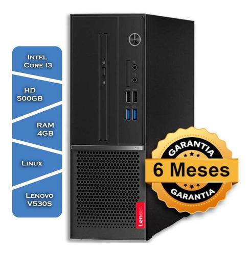 Imagem 1 de 5 de Pc Lenovo V530s Core I3 8100gº Hd500 4gb Ram Linux Small