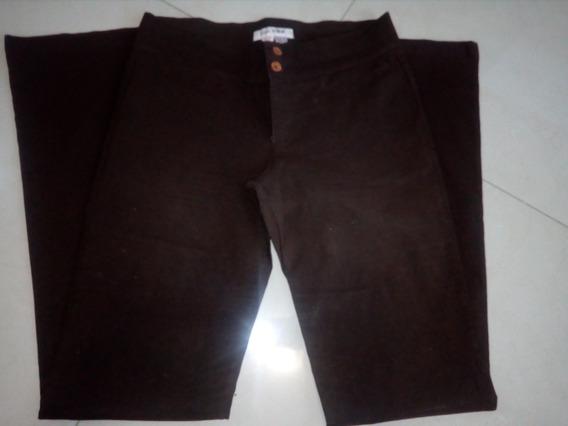 Pantalon De Vestir Marca Zara Color Marron Oscuro Talla 10
