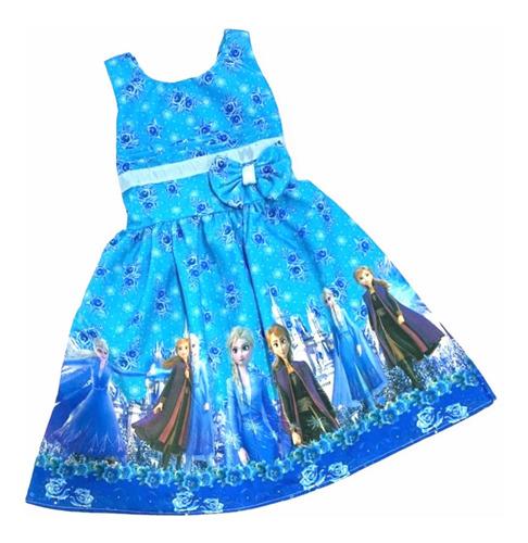 Vestido De Festa Infantil Temático Frozen