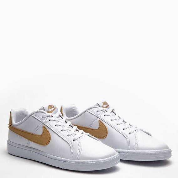 Zapatillas De Mujer De Vestir Nike Court Royale White Gold