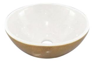 Bacha Baño Loza Sofy Beige Blanca Sanitaria Diseño Moderna