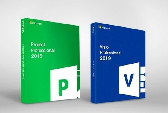 Pacote Visio + Project 2019 Chave Ativação Vitalicio