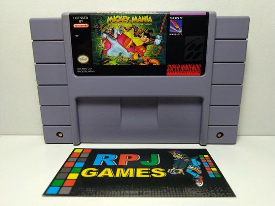 Mickey Mania Original P/ Snes Super Nintendo - Loja Rj - &&