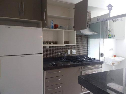 Imagem 1 de 14 de Apartamento Mobiliado Com 2 Dormitórios Sendo 1 Suíte À Venda, 50 M² Por R$ 210.000 - Spazio Splendido - Parque Vereda Dos Bandeirantes - Sorocaba/sp - Ap0610