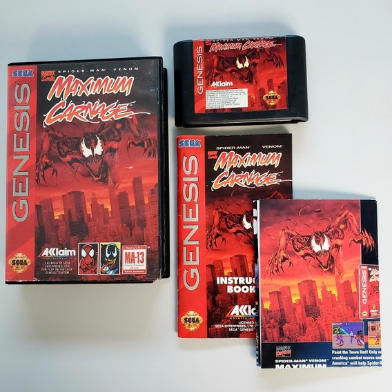 Spider-man Maximum Carnage Separation Anxiety Mega Drive