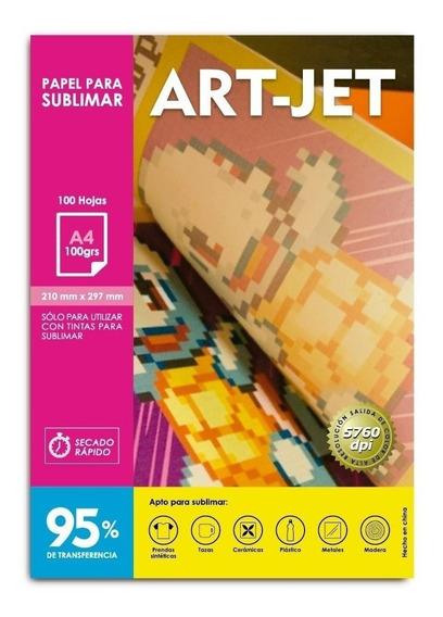 Papel Para Sublimar Artjet A4 100grs 100 Hojas 95% Mate