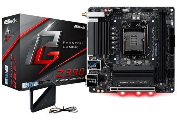 Placa Mãe Asrock Z390 Phantom Gaming-itx/ac Intel 1151 / Nfe