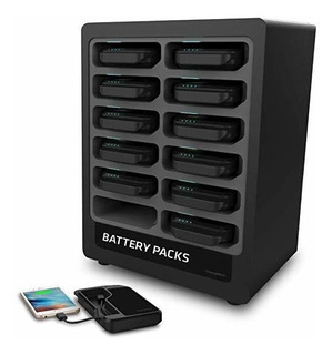 Chargetech Bateria Pack Dispenser Dock 12 Recargable Power ®
