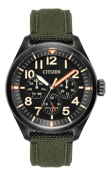 Relógio Masculino Citizen Eco-drive Militar Nylon Bu2055-16e