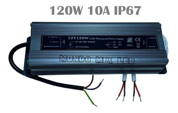 Fonte Provdagua Blindada Bivolt Automática 120w 12v 10a Ip67
