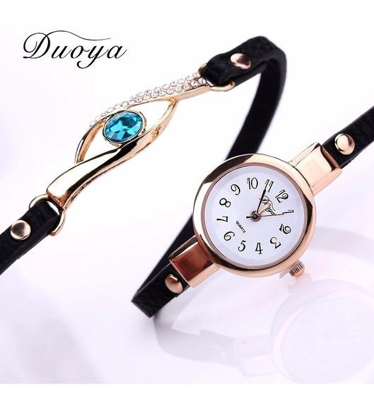 Relógio Feminino Dourado Importado Pulseira Fina Lindo