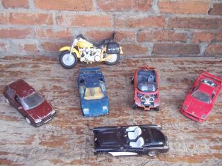 6 Brinquedo Ferro 5 Carro 1 Moto Com Avarias Conserto Peças