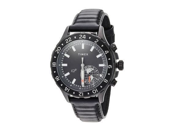 Reloj Hombre Timex Iq+ Move Multi Time Leather Strap