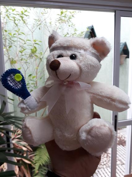 Urso Ursinho 20cm Tenista Jogador Tênis Lembrancinha Festas