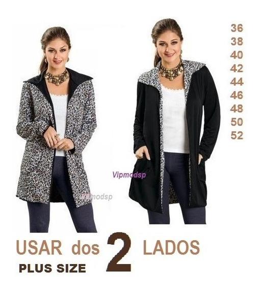 Sobretudo Feminino Blazer Plus Size Casaco Inverno Tamanho P M G Gg Xxg Xlg 36 42 44 46 48 50 52 54 Temos Vestido Bata