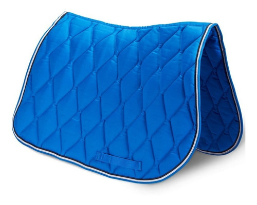 Imagen 1 de 3 de Mantilla De Silla Equitación Para Caballo Azul Premium