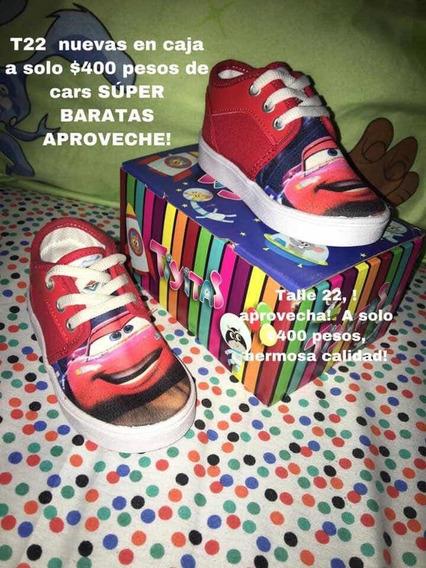 Zapatillas Cars En Caja Nuevas