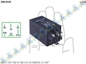 Rele 12v 15a 6t Injecao Eletronica Omega S/ Suporte