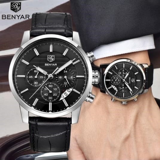 Relógio Benyar Classico - Esporte Fino + Pulseira Brinde