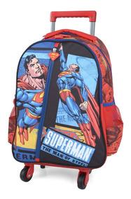 Mochilete 360º Superman Super Homem Capa Vermelha Original