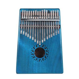 Sólido 17 Clave Kalimba Mbira Bolsillo Pulgar Pianoportátil