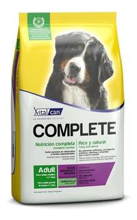 Alimento Vitalcan Complete perro adulto raza mediana/grande pollo 20kg