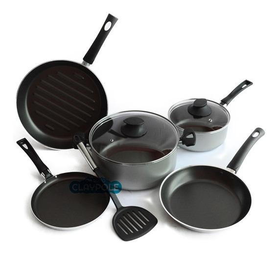 Batería Cocina 6 Pzas Antiadherente Cacerola Jovifel Brescia