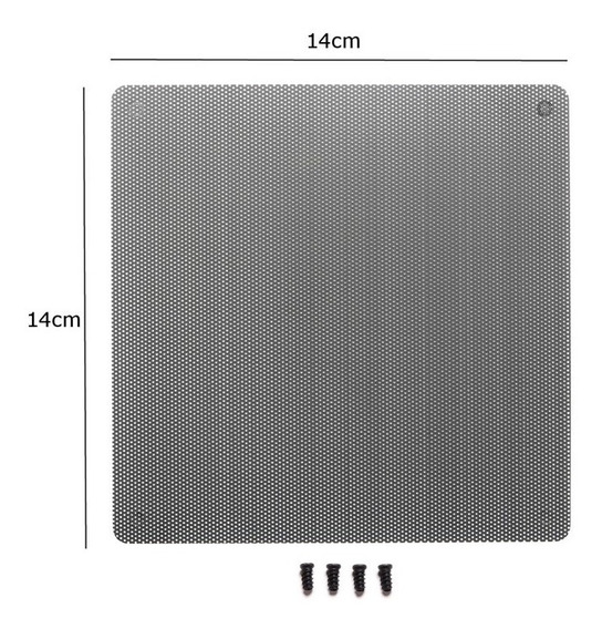 Filtro Poeira Computador Fan Cooler 14cm 140mm + Parafusos