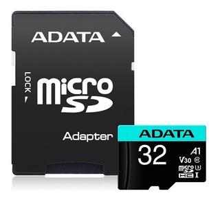 Cartão De Memória Micro Sd A-data 32gb + 1 Adapt Class 10 4k