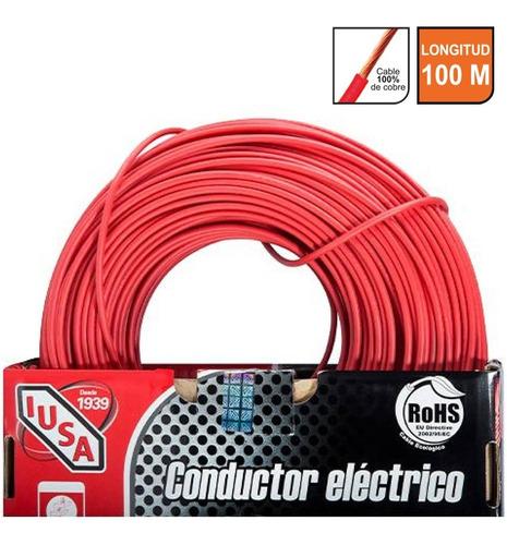Cable Calibre 10 Thw-ls / Thhw-ls 100 M Rojo Iusa