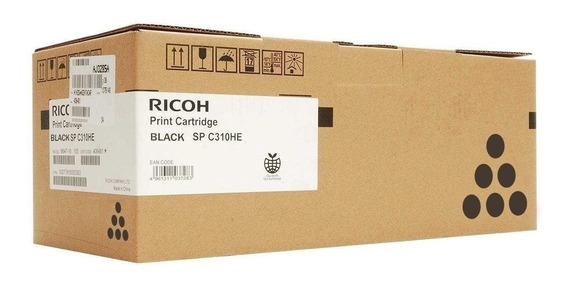 Cart Toner Ricoh Sp C310 Preto Original 406475
