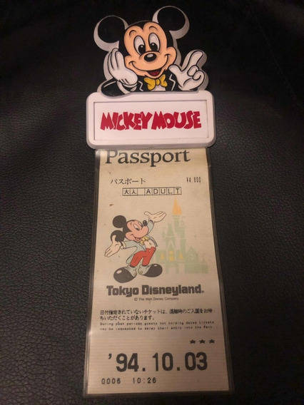 Portapasaporte Tokio Disneyland Con Su Pasaporte Original 94