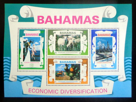 Bahamas Fauna, Bloque Sc. 377a Recursos 1975 Mint L8706