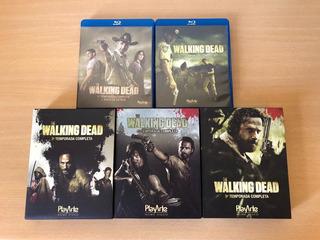Kit Blu-ray Originais The Walking Dead 1ª A 5ª Temporada