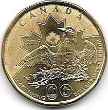 Moneda Canada 1 Dolar Año 2016 Pato Olimipiada Sin Circular
