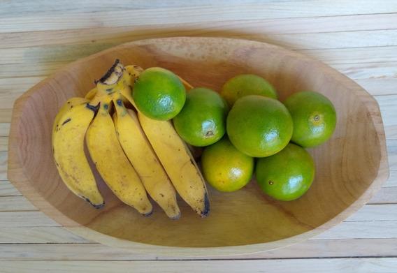 Travessa Gamela/fruteira De Madeira Ref: 9404