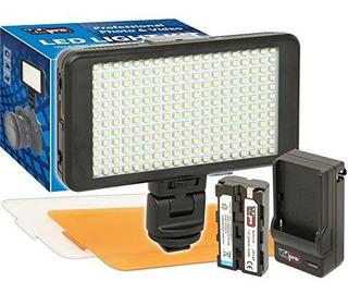 Vidpro Led230 Ultraslim Video Light Con 2 Difusores Bateria