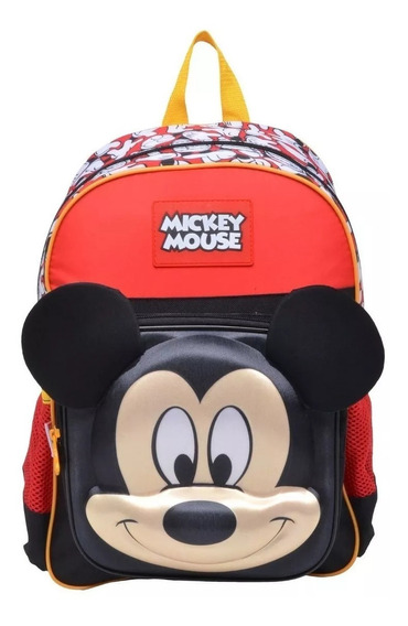 Mochila Escolar Infantil Mickey Mouse Alto Relevo Costas 19y M Sestini