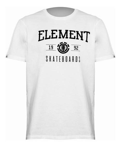 Remera Element M/c Victory Hombre Blanca/negra