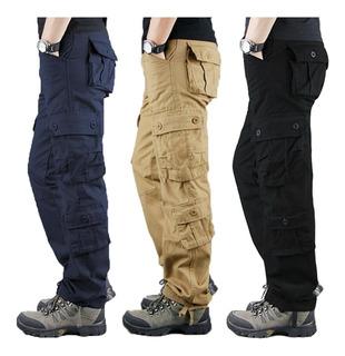 Pantalón Táctico Militar 8 Bolsas Policia Seguridad Comando