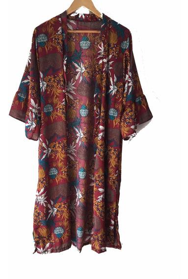 Kimono De Fiesta - Saco Largo Mujer - Ideal Playa