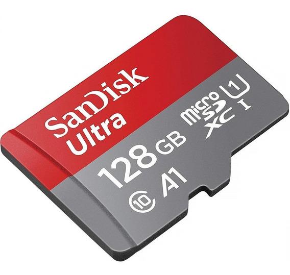 Cartão Micro Sd Sandisk A1 Ultra 128gb 100mb/s + Adaptador