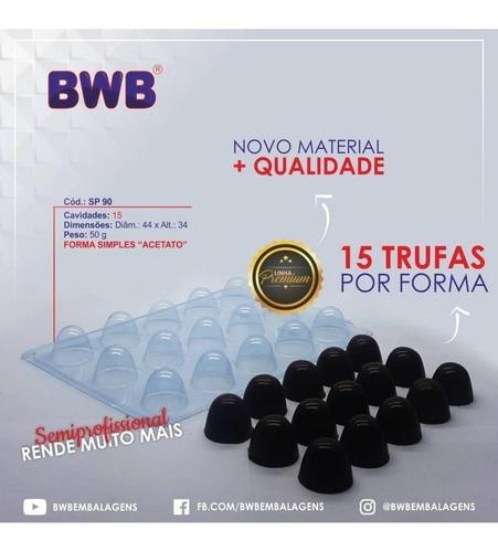 Kit 2 Formas Simples De Acetato Trufa Grande Sp 90 Bwb