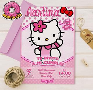 Tarjetas De Invitacion De Hello Kitty Para Cumpleaños En